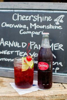 Cheerwine Moonshine Signature Cocktail | Canyon Kitchen at Lonesome Valley | Cashiers, NC | Realities Photography