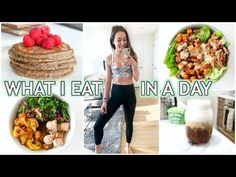 WHAT I EAT IN A DAY: healthy meal ideas - YouTube Keto Cauliflower, Get Up, Meal Ideas, Healthy Recipes, Meals, Youtube, Stand Up, Get Back Up, Meal