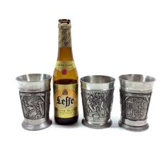 Vintage Pewter Cocktail Tumbler Set with by PrimaTreasures on Etsy