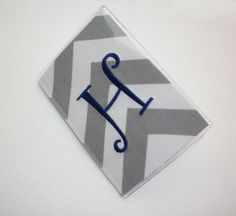 Passport Cover / Holder / Case  Chevron  Zig Zag  ZigZag by Laa766 embroidery / custom / personalized / monogrammed initials / preppy / 3 letter monogram / under $10 / school / can huggie