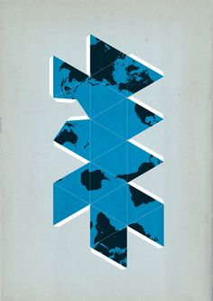 Buckminster Fuller's Dymaxion Map by Michel Paukner #BuckminsterFuller #Dymaxion #Dymaxionmap