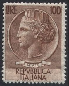 Sello: Coin of Syracuse, wmk. stars II S, p. (Italia) (Coin of Syracuse) Mi:IT Rare Stamps, Vintage Stamps, Error Coins, Tampons, Stamp Collecting, World Cultures, Old Things, Clip Art, Abstract Art