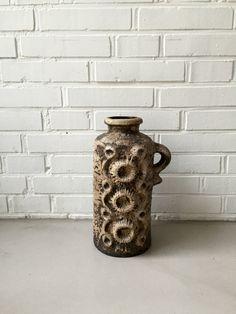 Vintage Carstens Vase, Moon Crater Vase, Luxus Tönnieshof Vase, Space Age, Keramik West Germany, Bodenvase Vintage,Midmodern Dekoration von moovi auf Etsy
