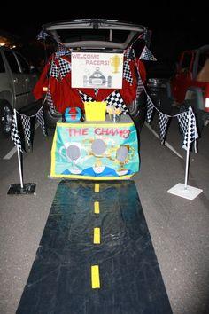 Race Car theme Trunk or Treat idea..21 Clever Trunk or Treat Ideas.21 Clever Trunk or Treat Ideas. Trunk or Treat design ideas. Trunk or Treat