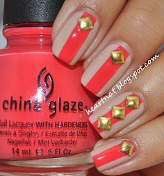 nail art studs | nail art #opi #china glaze #square studs #born pretty store