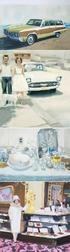 kirsten tradowsky via The Jealous Curator #art #retro #paintings