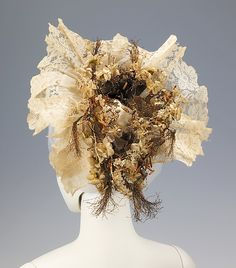 Wedding headdress, 1885-1900, Swiss.