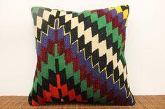 Art Deco Kilim Pillow 16 x 16 Vintage kilim by kilimwarehouse, $44.00