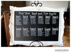 CHALKBOARD SEATING CHART Since Aweng and I are liking chalkboards, we thought of maybe we dont have to make escort cards anymore and just make a seating chart instead. But the thought of writing on an...