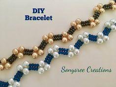 How to:- DIY Zigzag Heart ❤️ Bracelet - diy and joy Bijoux Design, Schmuck Design, Jewelry Design, Diy Jewelry, Beaded Jewelry Patterns, Bracelet Patterns, Beading Patterns, Bracelets Diy, Simple Bracelets