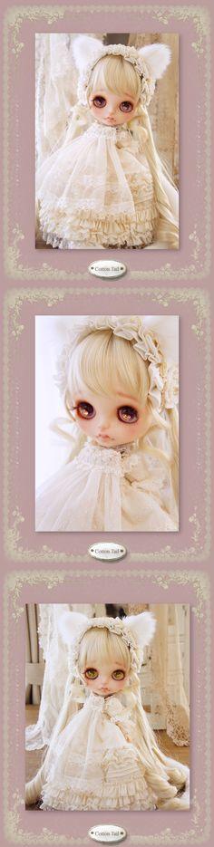 ◆Cotton Tail◆ ミルク色の子猫*whiteday*カスタムブライス - ヤフオク!