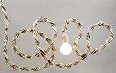 Modern Macrame Pendant Light by Windy Chien. Shop at http://www.windychien.com/shop/