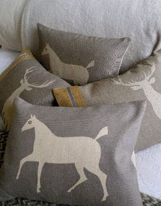 Pewsey Vale White Horse pillows from Helkat Design