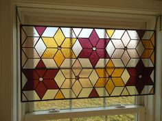 Staine Glass Window Transom Panel Valance Suncather by HelioGlass, $170.00