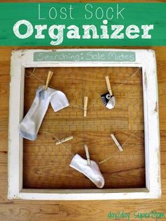 Lost Sock Organizer ~ DIY Friday  Useful and funny! (Searching for Sole Mate)