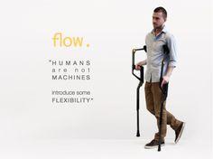 Flow Crutches by Zach Handziak at Coroflot.com