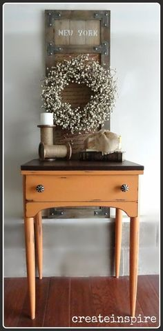 Keep your eyes peeled for an old sewing table, because this front ...
