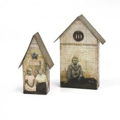 Tim Holtz Tiny Houses Die at It's Cheaper Than Therapy