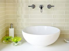 Installing Fixtures in your tile. contemporary powder room by W. David Seidel, AIA - Architect