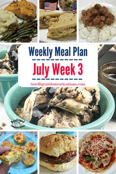 July Meal Plan. Week 3. Shortcut Recipes to save time in the kitchen while preparing summer meals. Dinner ideas for summer meals and a No Bake dessert recipe. #mealplan #menuplan Homemade Banana Bread, Banana Bread Recipes, Watermelon Blueberry Salad, Veggie Muffins, Rotisserie Chicken Salad, Foil Pack Dinners, Quick Easy Meals, Summer Recipes, Meal Planning
