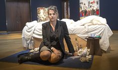 Tracey Emin stands by My Bed as it goes on sale for Artist Life, Artist At Work, Tracey Emin Bed, English Artists, It Goes On, Single Women, Stand By Me, The Past, Hero