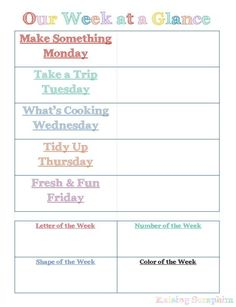 Summer Weekly Routine for Fun and Learning Summer Weekly Schedule for Toddlers. Create a fun, structured environment for all kids, regardless of age with the ideas she shares here. Toddler Learning, Toddler Fun, Fun Learning, Learning Activities, Time Activities, Early Learning, Tot School, Summer School, Summer Kids