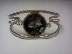 Vintage Alpaca Silver Abalone Shell Inlay and by AAAJEWELRYSTORE, $17.99