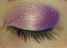 Gold and violet eyeshadow