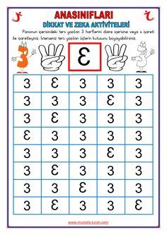 Visual Perception Activities, Math Humor, Preschool Math, Math For Kids, Pre School, Worksheets, Psychology, Periodic Table, Reading