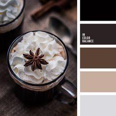 бежевый, грязный белый, коричневый, красно-коричневый, оттенки коричневого, оттенки серого, подбор цвета, почти-черный, светло серый, светло-коричневый, серебряный, серо-бежевый, серый, серый цвет, темно серый, цвет кофе.