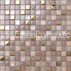 Golden plating schillernde quadrat glitter glasmosaik mix&(…
