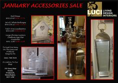 January Accessories Sale at Luci Living Design, Call the Shop on 0161 798 7654 for more information