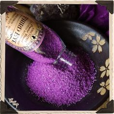 PURPLE RITUAL SALT. Third Eye. Blessed with Amethyst on a Full Moon For Intuition, Insight, Spiritual Growth, Wisdom, Meditation, Divination  www.whitewitchparlour.com