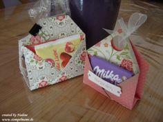Anleitung / Tutorial für eine Teebeutelverpackung, Kaffeepadverpackung, oder Schokoladentafelverpackung,