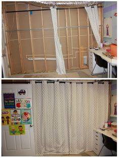 Unfinished basements kid playroom and staple gun on pinterest - Turn unfinished basement into bedroom ...