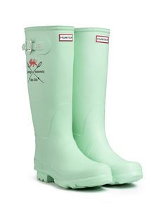 Cambridge University Boat Club Hunter boots for The BNY Mellon Boat Race on Sunday 31st March.