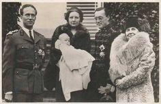 Leopold van België, Juliana met Beatrix, Bernhard en Wilhelmina