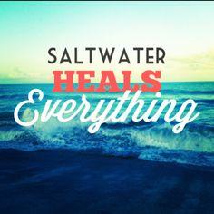 Salt Walter heals everything #hatteras