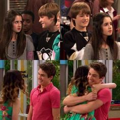 Laura Marano and Cody Christian I don't know that they met/knew each other before austin and ally