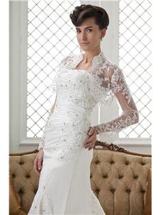 Long Sleeve Exquisite White Lace Wedding Jacket (21185) Newcastle