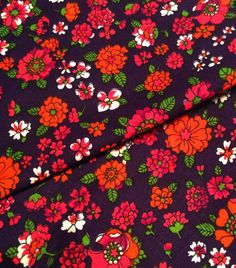 Swedish 60s vintage fabric with a lovely stylized by Inspiria