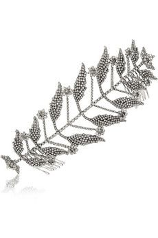 Erickson Beamon Ballroom Dancing rhodium-plated Swarovski crystal hair slide   NET-A-PORTER