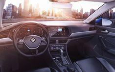 Télécharger fonds d'écran 4k, Volkswagen Jetta, sedans, décoration d'intérieur, en 2019, cars, VW Jetta, Volkswagen