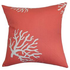 Reef Pillow in Coral