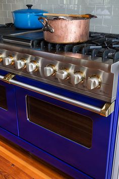 To satisfy his 'firepower' cravings, Mr. Besh purchased a custom range from Viking, a company he likes because the units are made in Mississippi. The cobalt-blue enameled range features two commercial ovens, six burners, a grill and a griddle.