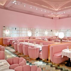 See the winners of the 2015 Restaurant and Bar Design awards: Best UK Restaurant: The Gallery at Sketch (London, UK) by India Mahdavi Interior Exterior, Interior Design, Interior Sketch, French Interior, Minimal Art, Deco Rose, Restaurant Design, Sketch Restaurant, Pink Restaurant London