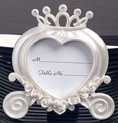 Wedding coach placecard frame with crystals 5557-DC (As low as $0.89 each.)