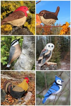 Pájaros True Art, Birds, Diy Crafts, Felt Projects, Embroidery, Sewing, How To Make, Animals, House
