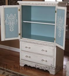 Blue and White Armoire from Interior Frugalista