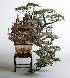 Amazing Bonsai Treehouses by Artist  Takanori Aiba. INCREDIBLE.